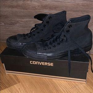 Black High Top Converse - NWT